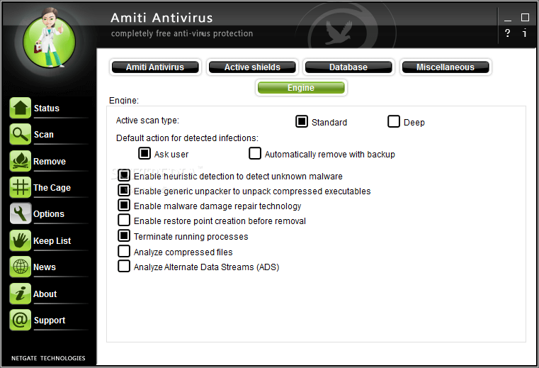 NETGATE Amiti Antivirus 2020 License Key