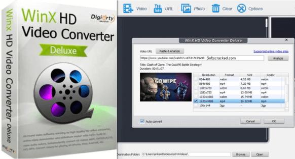 WinX HD Video Converter Deluxe 5.16.2.332 Crack + Key (2021)