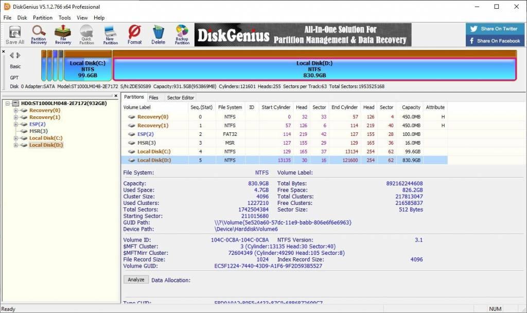 DiskGenius Professional 5.4.2 Crack + License Key [2021] Free Download