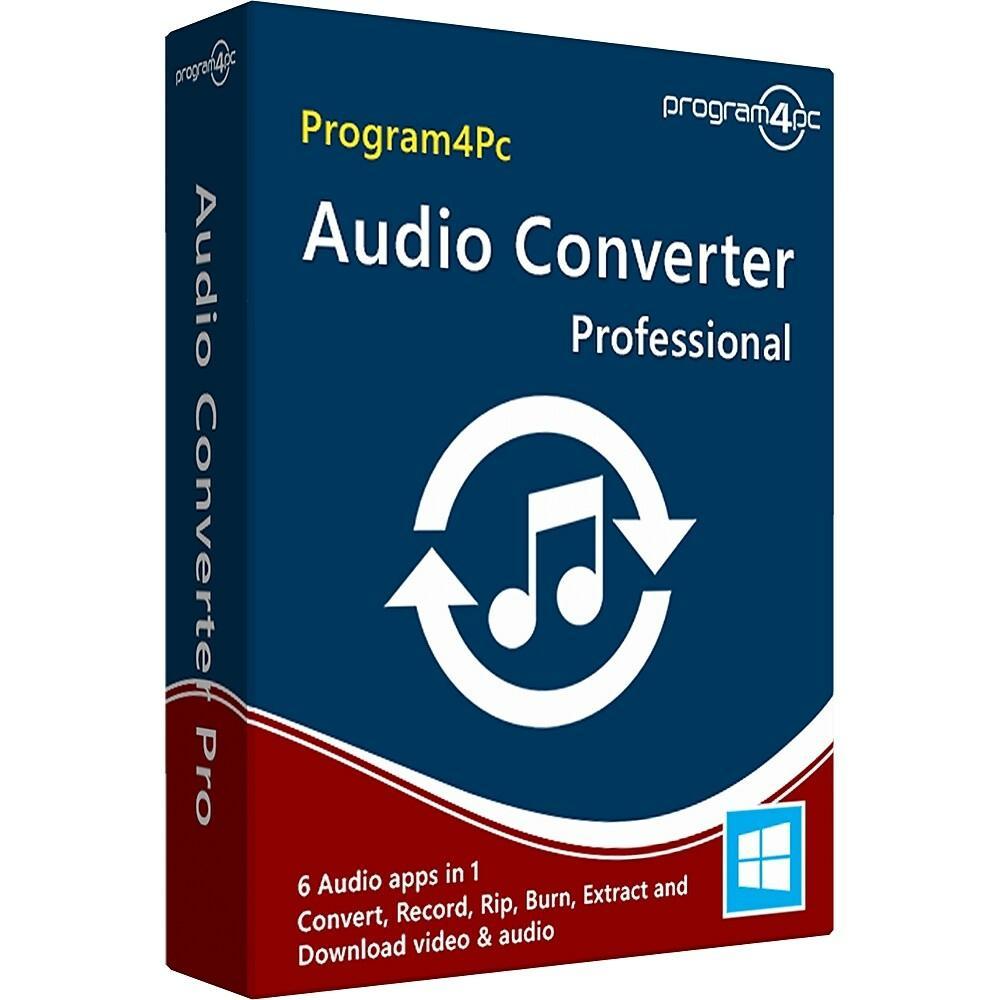 Program4Pc Audio Converter Pro Crack 7.8 + Key [Latest] 2022