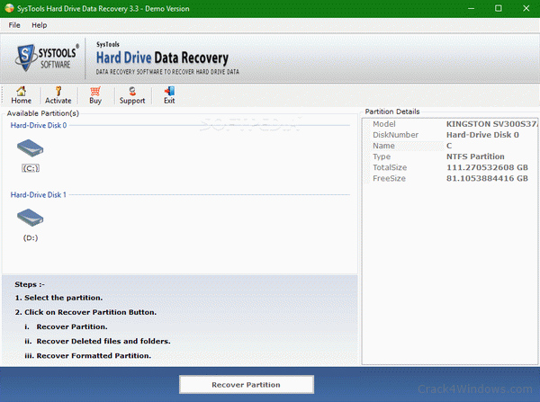 SysTools Hard Drive Data Recovery Crack v16.4.0 + Keygen [2022]